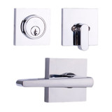 Chrome Philtower Reversible Passage Lever with Square Deadbolt Combo
