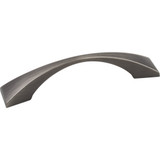 """Brushed Pewter 5"""" OL Decorative Cabinet Pull 96mm CC - Elements Glendale Collection"""