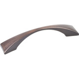 "Brushed Oil Rubbed Bronze 5"" OL Decorative Cabinet Pull 96mm CC 82371 (525-96DBAC) Elements Glendale Collection"