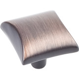 "Brushed Oil Rubbed Bronze 1"" Overall Length Square Cabinet knob 82356 (525DBAC) Elements Glendale Collection"