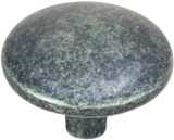 Antique Pewter Flat, Round Cabinet Knob by Hardware-House