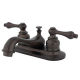 "Oil Rubbed Bronze RESTORATION 4"" CENTER Bathroom Faucet - KB605ALB"