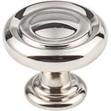 "Polished Nickel 1-1/4"" Bremen 1 Decorative Button Cabinet Knob (117NI)"