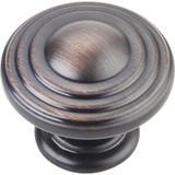 "Brushed Oil Rubbed Bronze 1-1/4"" Bremen 2 Decorative Ring Cabinet Knob (137DBAC)"