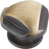 "Antique Brushed Satin Brass 1-5/16"" Chesapeake Decorative Cabinet Knob (915ABSB)"