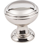 "Polished Nickel 1-1/4"" Tiffany Decorative Cabinet Knob (658NI)"