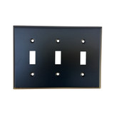 Oil Rubbed Bronze Triple Toggle Switch Plate Cover