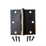 "Oil Rubbed Bronze 3.5"" X 3.5"" X Square Corner Door Hinge"