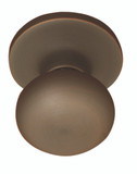 Oil Rubbed Bronze Noe Valley Round Mushroom Shaped Doorknob