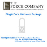 The Porch Company Custom Screen Door Hardware Package By Complete Home Hardware