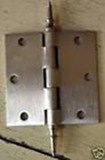 "Satin Nickel 3.5"" X 3.5"" X Square Corner Door Hinge with Steeple Tip"