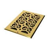 Decor Grates Brass Cold Air Return Vent Cover