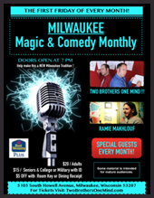 Buy tickets for Two Brothers One Mind Comedy Magic Monthly...