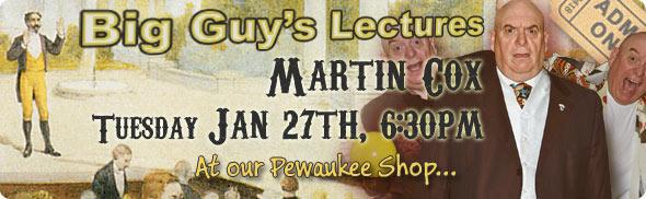 Martin Cox Lecture