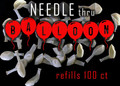 Needle thru Balloon BALLOONS, 100 CT