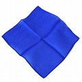 Blue 6 inch Colored Silks- Professional Grade (12 Pack)