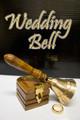 Wedding Bell, Brass w/ Ring Box