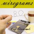 WireGram 8 of Diamonds - Small