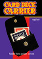 Card Deck Carrier, Leather  - 2 Deck