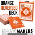 Reversed Back Bicycle Deck - Orange
