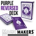 Reversed Back Bicycle Deck - Purple