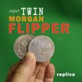 Super TWIN Flipper Morgan Dollar, Replica