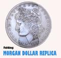 Folding Coin Morgan Dollar, Replica