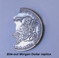 Bite Out Morgan Dollar - Replica