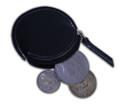 Coin Pouch, Round w/ Zipper
