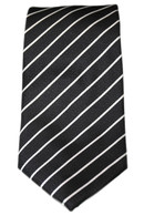 Black with white stripped  Tie