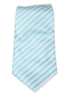 Light blue and  white stripped  Tie