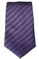Purple and black stripped   Tie