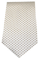 White with brown spots Tie