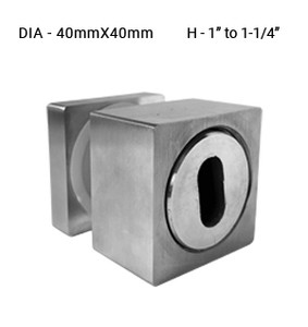 SO640ADJSQBS STAND OFF SQUARE ADJ. WITH CAP FOR 40x40MM IN 316SS