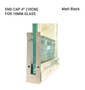 "EC3CL7081010SAB Matte Black 4"" ENDCAP FOR 10MM GLASS"