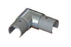 EB530R90HBS ELBOW 90DEG HORIZONTAL CONNECTOR FOR SLOTTED HANDRAIL IN SS 2205 FOR 30MM DIAMETER ROUND PIPE