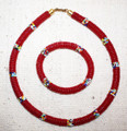 Kenya Unity Beaded Choker and Bracelet Set G