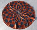 Circular Niger Leather Mat H