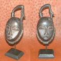 Miniature Masks w Stands: Baule Tribe Mask