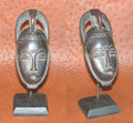 Miniature Masks w Stands: Baule Tribe Mask Item 102i