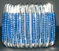 South African Safety Pin Bracelets: Blue