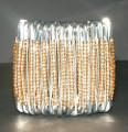 South African Safety Pin Bracelets: Gold