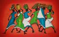 Kenyan Batik: Market Place Ladies