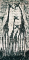 Maasai Cloth Painting: Giraffes