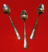 African Silver Baby Spoons