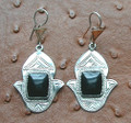 Tuareg Onyx Stone Earrings