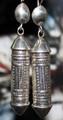 Tuareg Silver Amulet Earrings