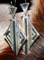 Tuareg Silver Shield Earrings