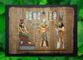 Egyptian Papyrus Art: Flower Giving