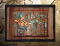 Egyptian Papyrus Art: Rameses and Nepthys